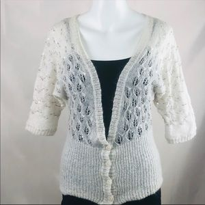 Loft sweater cream mohair and wool delicate knit